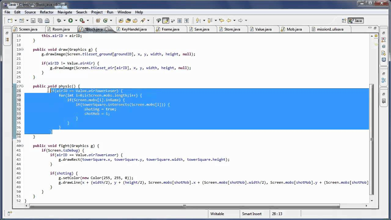how to use java to make a game