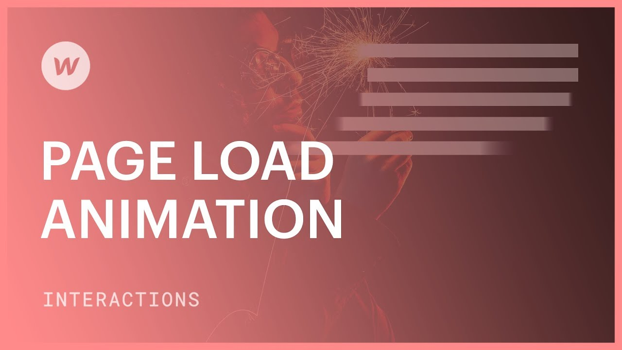 Page Load Animation - Webflow interactions and animations tutorial