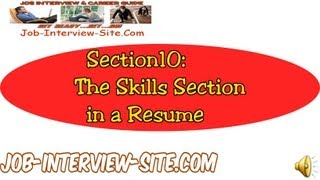 Resume Skills Section: How to Write a Resume Skills Section