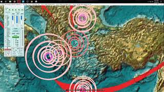 2/22/2018 -- Earthquake forecast example -- Pressure transfers through planet hits Sea of Okhotsk