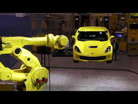 New FANUC M-2000iA/1700L Robot Lifts Corvette Demonstrating Long Reach & Heavy Payload