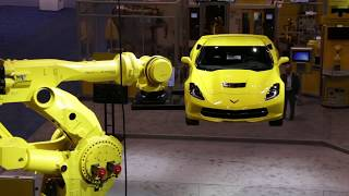 New FANUC M-2000iA/1700L Robot Lifts Corvette Demonstrating Long Reach & Heavy Payload thumbnail