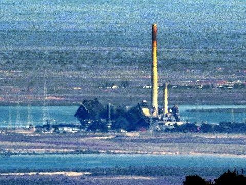 Great Northern Power Station boiler (Port Augusta, Sth.Aust.) demolition.