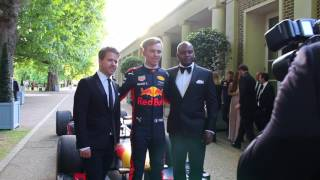 Live F1 car action at the GP Ball in London