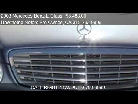 2003 Mercedes Benz E Class E320 4dr Sedan For Sale In