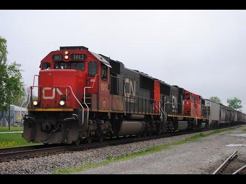 April 2016 Trains w/ IC, CN, BNSF, KCS, HLCX, NS, UP, CSXT, EJ&E, CREX, & BCOL