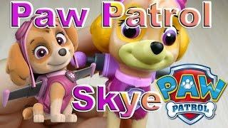 Щенячий патруль игрушка Скай с рюкзаком трансформером и значком Paw Patrol