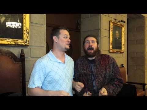 Casey Abrams and me singing Rudolph