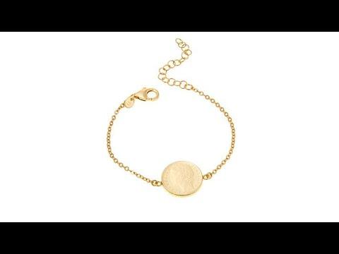 """Bellezza """"Spiccioli"""" 100 Lira Coin Bronze Bracelet"""