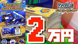【当たるまでやる。】20,000円カードゲームに使ってみた。ゾイドワイルド バトルカードハンター ワイルドライガー ブレード アーマーパーツキット ゲットキャンペーン カードを買う 連コイン thumbnail