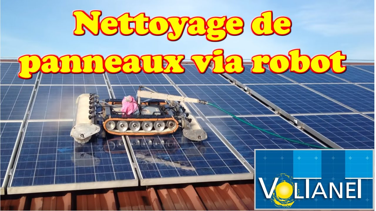robot nettoyage panneaux solaires youtube. Black Bedroom Furniture Sets. Home Design Ideas