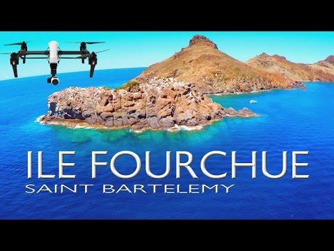 Ile Fourchue ~ St Barths ~ Saint Barthelemy ~ Epic UAV Drone Caribbean ~ WeBeYachting.com
