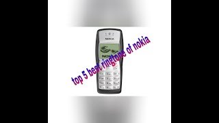 Gambar cover Top 5 best ringtones of Nokia for an can Android download all from description
