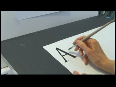 Beginning Western Calligraphy Tips : Writing Roman Calligraphy Letters: Part 1