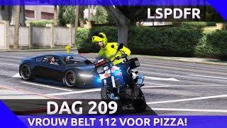 GTA 5 lspdfr dag 209  - Vrouw belt 112 om pizza te bestellen?!