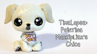 Timelapse: Painting Markiplier's Chica Puppy LPS Custom!