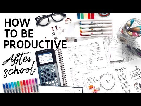 How To Be Productive After School // study tips +