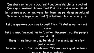 La Noche Esta de Fiesta / Hoy Si Que Se Bebe Letras Spanish to English Translation Lyrics