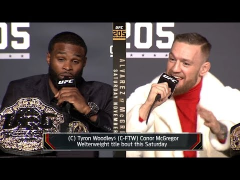 Conor McGregor vs Tyron Woodley TRASH TALK \u0026 BACKSTAGE