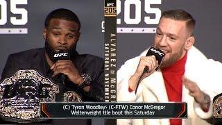 Conor McGregor vs Tyron Woodley TRASH TALK & BACKSTAGE