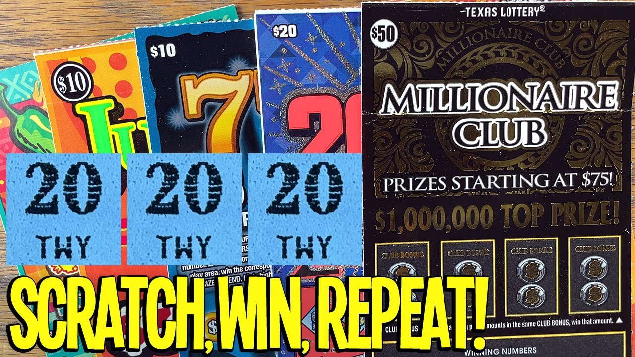 SCRATCH, WIN, REPEAT! 4X $20 200X The Cash + $50 Millionaire Club 🔴 TEXAS LOTTERY Scratch Offs