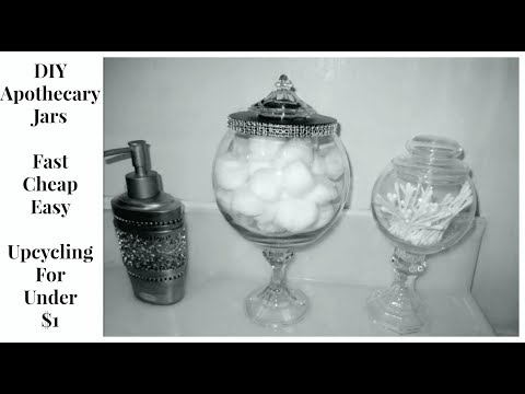 DIY 45 Cent Apothecary Jars