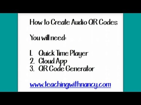 How to Create Audio QR Codes