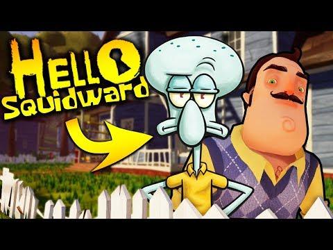 SQUIDWARD IS MY NEW NEIGHBOR?! (Hello Spongebob) | Hello Neighbor Mobile Ripoff Game