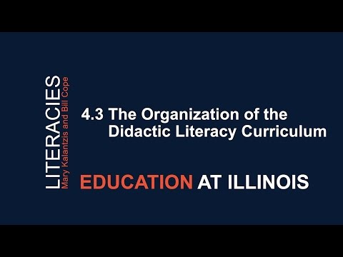 4.3 The Organization Of The Didactic Literacy Curriculum