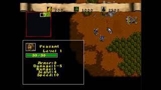 Warcraft 2, The Dark Saga, Mission 6 Dun Algaz, PS1 - Epsxe Emulator