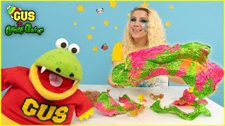 3 color Slime Art Challenge + Learn Colors with Gus & Windy