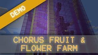 MorezysMinecraft: Ultimate Chorus Fruit & Flower Farm Snapshot 15w31
