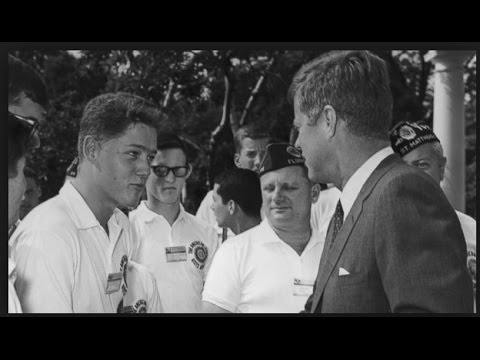 f4872a9744 The moment 16-year-old Bill Clinton met President John F. Kennedy - July  24