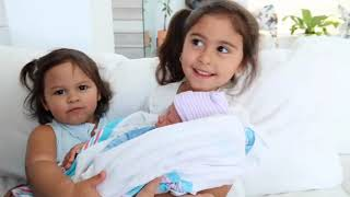 Elle and Alaia meet there baby brother | cuties | Acefamilyfan