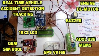 Real Time Vehicle Accident Detection and Tracking Using GSM, GPS & Arduino