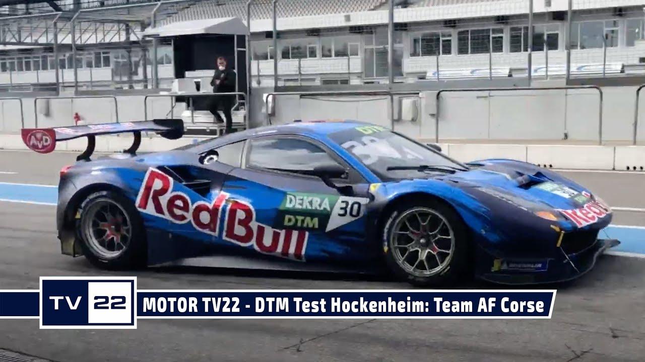 MOTOR TV22: DTM Test Hockenheim - Das Team AF Corse mit dem Red Bull Ferrari