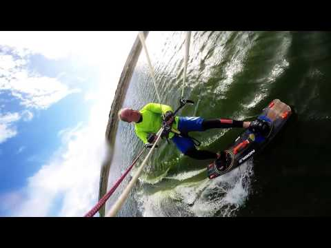 Kitesurfing at Ladys island lake co. Wexford, Ireland 10/2016