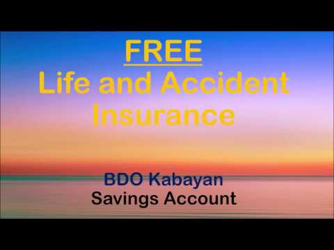BDO Kabayan FREE Life and Accident Insurance