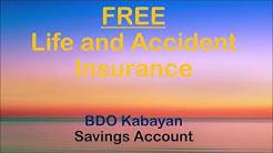 BDO Kabayan FREE Life and Accident Insurance
