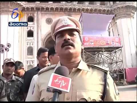 Security Arrangements At Charminar On Eve Of Ganesh Immersion; Explains Our Reporter