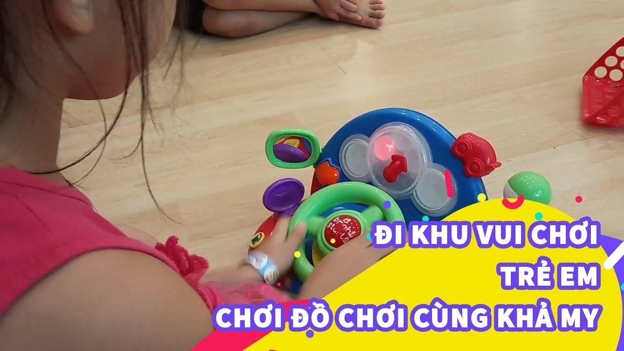Bé chơi đồ chơi tại khu vui chơi trẻ em – Indoor Playground for Kids Play Time – Khả My Kids TV