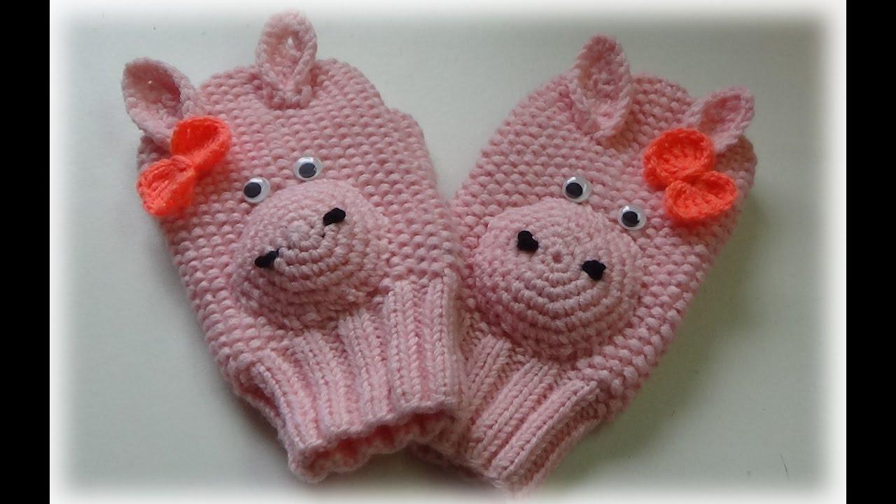 Making mittens/Оформление рукавичек/Вязание спицами/Счастливая_Рукодельница