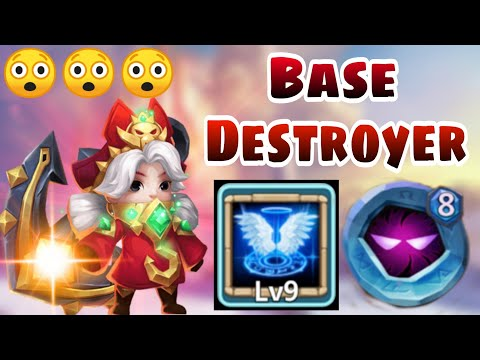 Commodora | 9 Revive | 8 Up | Uncut GamePlay | Beast In Base Destroy Strategy | Castle Clash