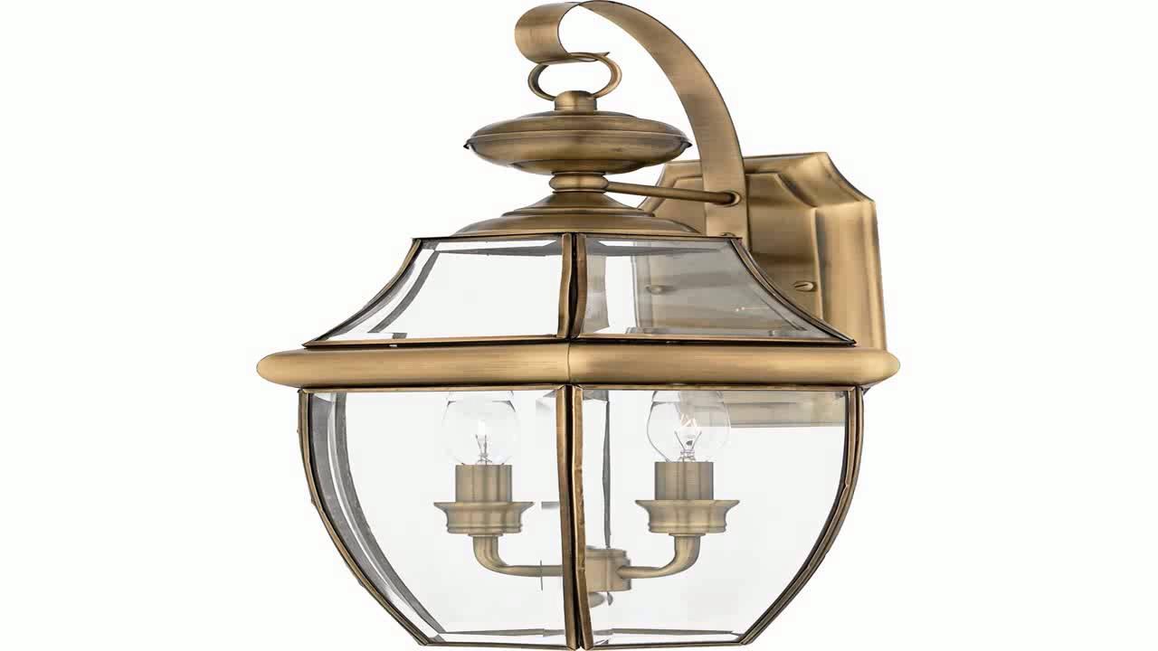 quoizel ny8317z newbury 2 light outdoor wall lantern medici bronze