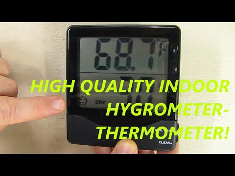 Review of AMIR Indoor Hygrometer Thermometer, Big LCD Screen, MIN/MAX Records, °C/°F switch