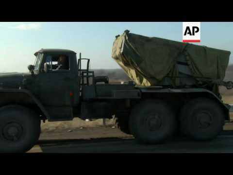 Rebels pull missile launchers from Donetsk area