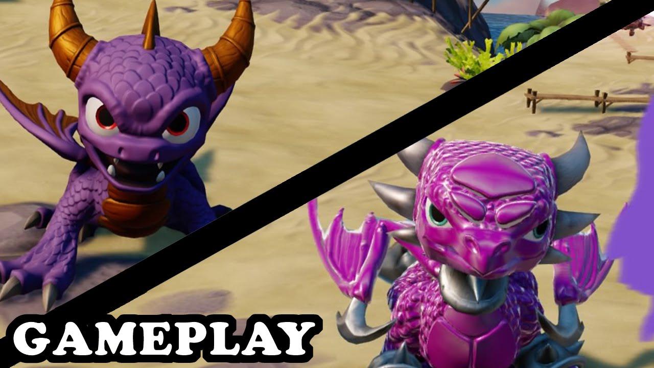 Skylanders Superchargers - Spyro & Cynder Gameplay - TRUE ...