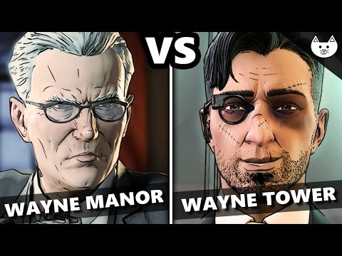 Telltale Batman Episode 4 - GO TO WAYNE ENTERPRISES vs GO TO WAYNE MANOR (Batman EP4 Choices)