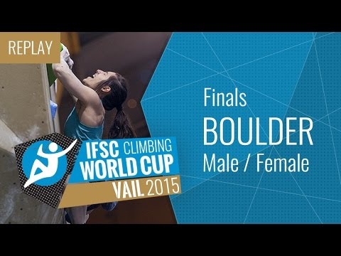 IFSC Climbing World Cup Vail 2015 - Bouldering - Finals - Male/Female