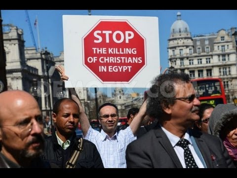 Egyptian Christians protest in London against Egypt's government